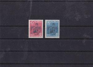 norway 1960 world refugee year mnh stamp set cat £23 ref 7437