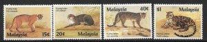 MALAYSIA SG383/6 1987 PROTECTED ANIMALS  MNH