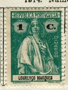 PORTUGUESE LOURENZO MARQUES;  1914 early Ceres issue Mint hinged 1c. value