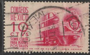 MEXICO Q7, 10¢ 1950 Definitive 1ST Printing wmk 279 USED. VF. (1029)