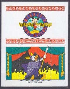 1992 Uganda 1063/B160 Disney - Daisy the Diva 7,50 €