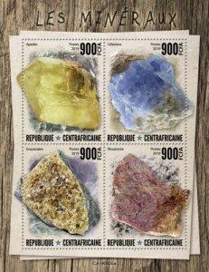 C A R - 2019 - Minerals - Perf 4v Sheet  - M N H