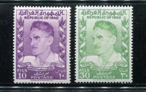 Iraq 258-259, MNH, Prime Minister Abdul Karim Kassem 1960. x31239