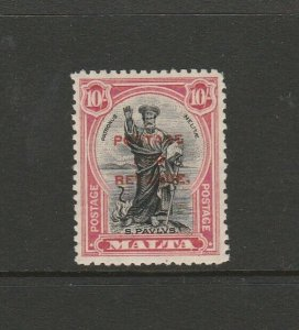 Malta 1928 Defs Opt Postage & Revenue 10/- MM SG 299
