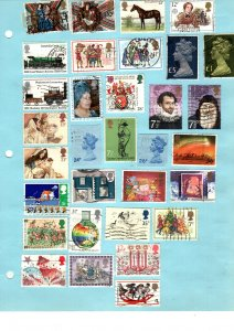 Great Britain   82 diff used and mint 2 sided