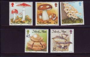 Isle of Man  Sc 650-4 1995 Mushrooms stamp set mint NH