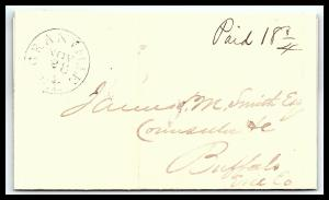 GOLDPATH: US STAMPLESS COVER 1839, GRANVILLE, N.Y.    W/LETTER   _CV58_P12