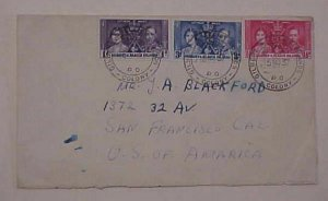 GILBERT & ELLICE ISLAND  KING GEORGE VI   TO USA 1937