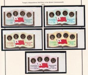 Tonga # 234-237, C73-77, CO31-33, Commonwealth Membership, NH, 1/2 Cat.
