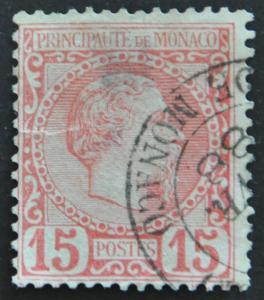 DYNAMITE Stamps: Monaco Scott #5 (thin) – USED