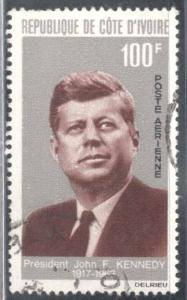 Ivory Coast ~ #C29 ~ John F Kennedy ~ Used