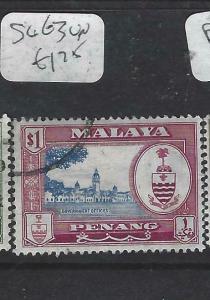 MALAYA PENANG   (P0704BB)  ARMS   $1.00      SG 63      VFU