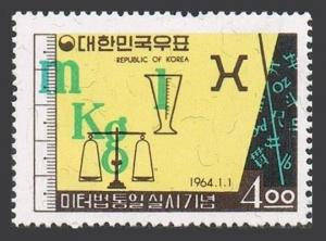 Korea South 428,MNH.Michel 416. Metric system,1964.Symbols.