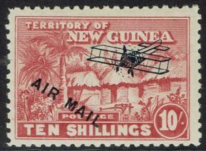 NEW GUINEA 1931 HUT AIRMAIL 10/-