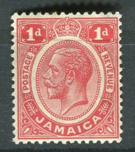JAMAICA; 1912 early GV issue fine Mint hinged 1d. value