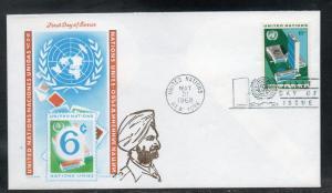 UN #187 FDC Overseas Mailer Cachet unaddr D192
