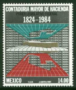 MEXICO 1371 160th Anniv of the State Audit Office MNH