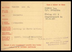 USA 1943 North Africa Germany POW Camp Stalag III Red Cross Cover Catholic 89665