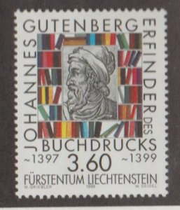 Liechtenstein Scott #1159 Stamp - Mint NH Single
