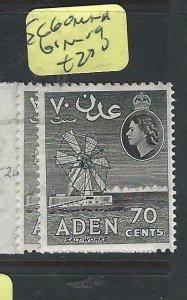 ADEN  (PP0807B)  QEII  70C  SG 60  MNH, 61  MOG