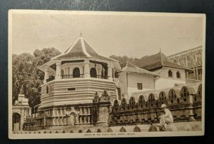 Vintage Temple of the Tooth Relic Kandy Ceylon to Orange MA Postcard Cover