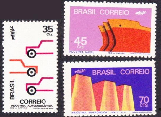 Brazil #1227-29 MLH complete set - industry
