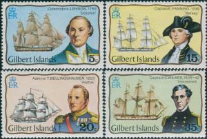 Gilbert Islands 1977 SG51-54 Explorers set MNH