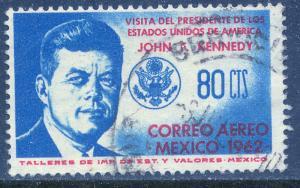MEXICO C262 Visit Pres J F Kennedy (World's 1st JFK). Used. F-VF. (699)
