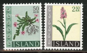 Iceland Scott 393-394 MNH** 1968 flower stamp set