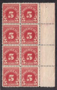 J73 Mint,OG,NH... Block of 8... SCV $340.00