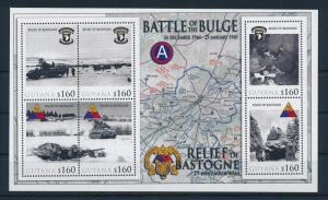[81183] Guyana 2010 WWII Siege of Bastogne Ardennes offensive Sheet MNH