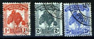 GILBERT & ELLICE ISLANDS 1911 The Pandanus Pine Set SG 9 to SG 11 VFU