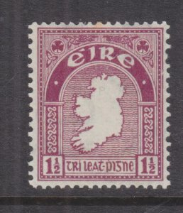 IRELAND,  1940 watermarked e, 1 1/2d. Claret, lhm., slight spots.