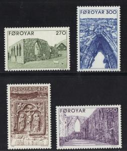 Faroe Islands 1989 MNH Kirkjubour Cathedral ruins complete