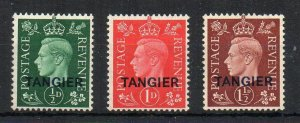 Morocco Agencies 1937 GB opt set of 3 MH