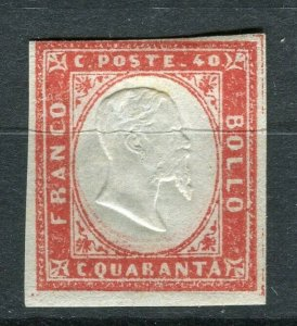 SARDINIA; 1855 early classic Imperf issue Mint unused Shade of 40c. value