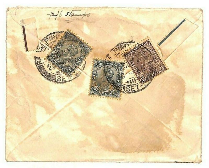 INDIA Rawalpindi GB London *Chamberlain HM King-Emperor Counsellor* 1945 MS3195