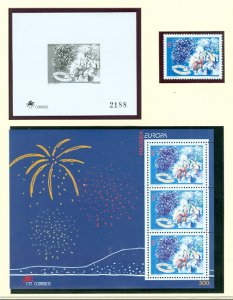 MADEIRA EUROPA 1998 #197&197a...STAMP & SOUV. SHEET...MNH...$7.00