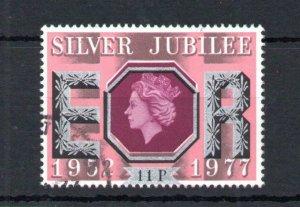 11p SILVER JUBILEE USED + SILVER COLOUR SHIFT