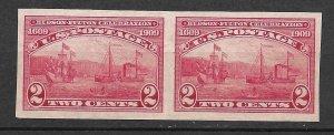 Doyle's_Stamps: Scott #373* [ng] Pair Hudson-Fulton Celebration  (WL10)