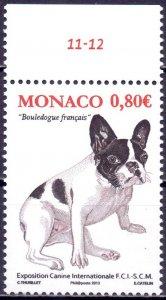 Monaco. 2013. Dogs. MNH.