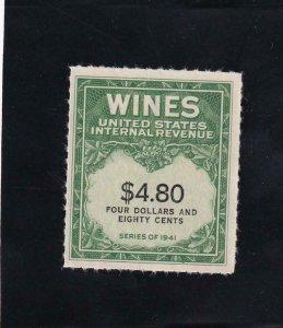 $4.80 Wine Tax Stamp, RE158, MNH (42148)