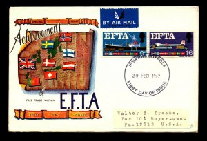 Great Britain 1967 EFTA FDC - L9183