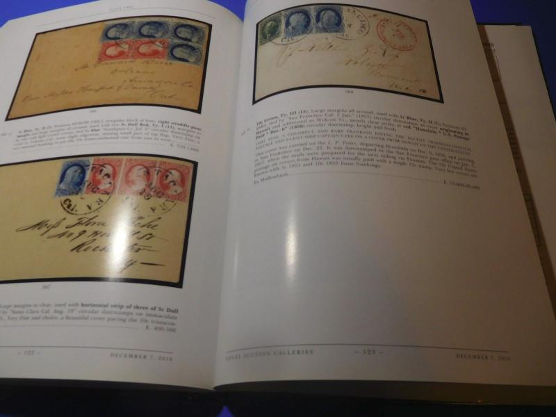 Stamp Auction Catalog Siegel 2010 United States One-Cent Imperf Stamps HC
