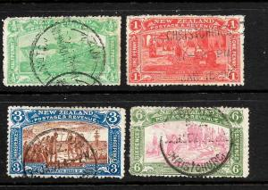 NEW ZEALAND 1906  CHRISTCHURCH EXHIBITION  SET 4     FU