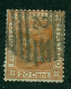 Italy 1863 #36 U SCV(2020)=$3.00