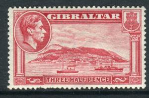 GIBRALTAR-1938-51 1½d Carmine Perf 13½.  A lightly mounTed mint example Sg 123a