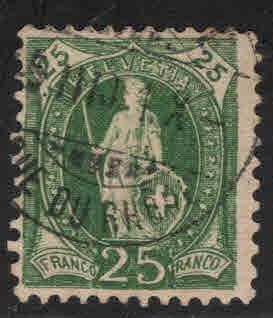 Switzerland Scott 83a used from 1891-1899 set perf 11.5x11