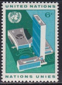 United Nations - New York # 187, U.N. Headquarters Buildings, LH