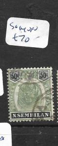 MALAYA NEGRI SEMBILAN (P1101B) TIGER 50C  SG 14  VFU